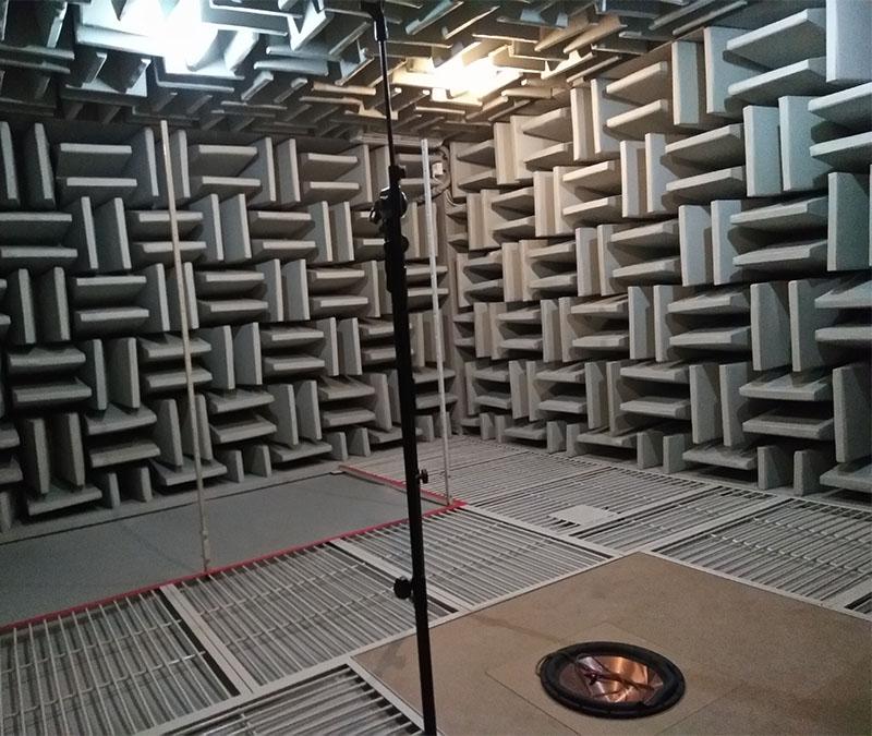 消音室噪声消音测试结构